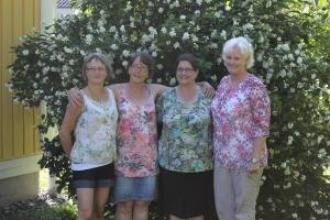 Hillevi, Monica, Ann Marie & Elizabeth 2013