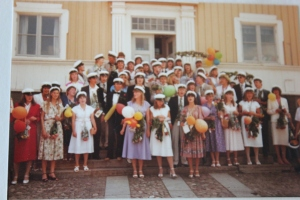 Graduation day 1980 in Ulricehamn