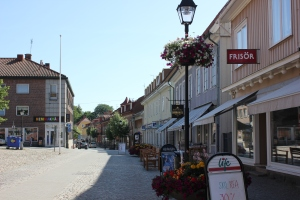 the main square of Ulricehamn